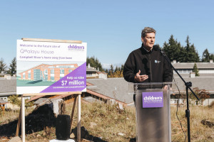 Campbell River Mayor Andy Adams supports home away from home Qwalayu House