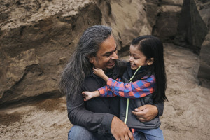 Nick Chowdhury and son, Home away from home Campbell River - Qwalayu House