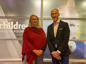 Sandra Hudson and Bryan Thomson 2020-2021 Children's Health Foundation of Vancouver Island-board chair